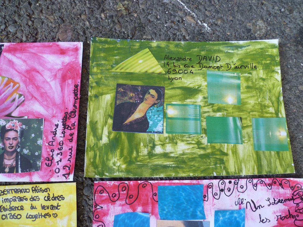 Mail Art Frida Kahlo avec les ados