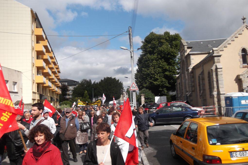 Manifestation à Guéret ce 10septembre 2013