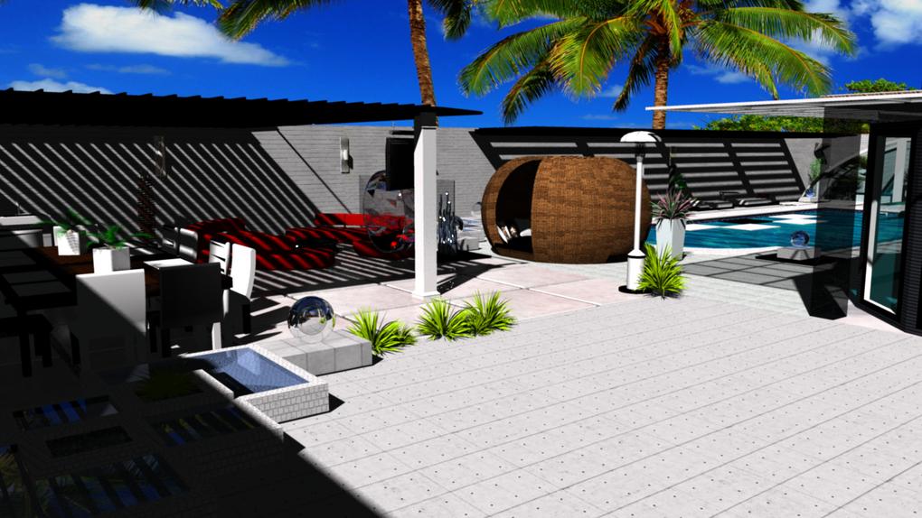 Design extérieur style moderne et exotique