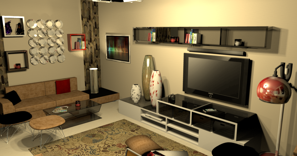 design 3d salon la maison de miss sandra. Black Bedroom Furniture Sets. Home Design Ideas