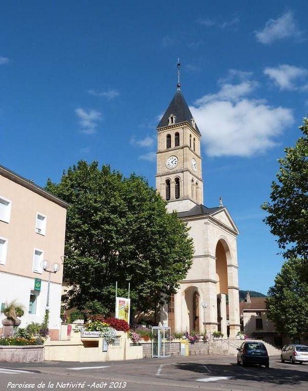 Eglise Saint André de Chauffailles. Reconstruite de 1836 à 1839