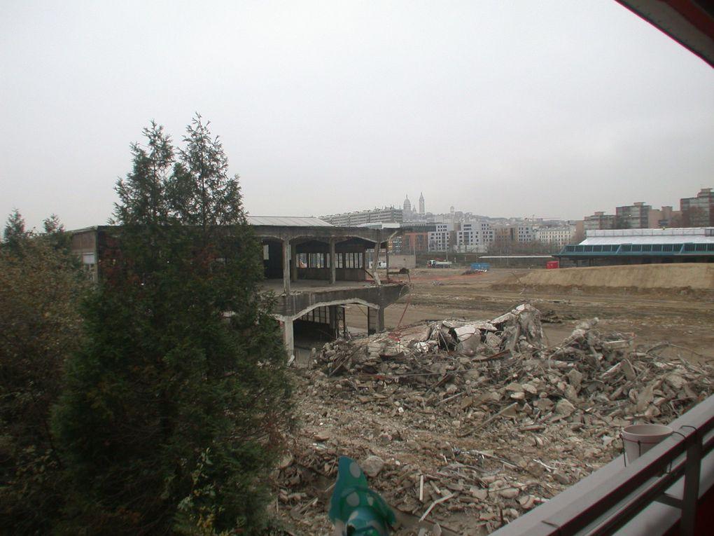 Diaporama de la démolition de la halle 4 - Photos Espaces Ferroviaires et R.Villaumé