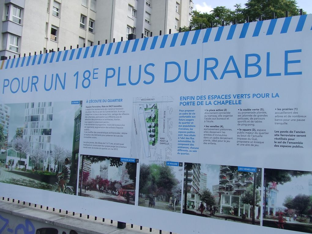 Palissade du projet Chapelle International  -  Juin 2015  -  Photos ASA PNE