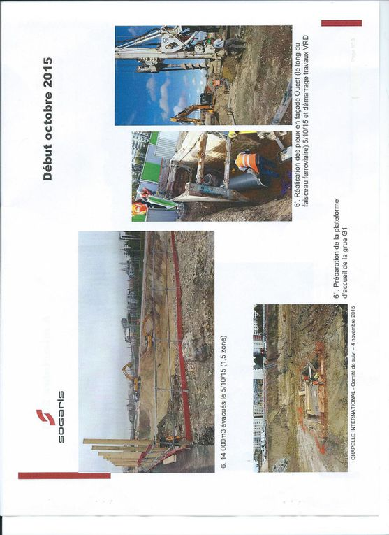 Lancement du chantier de la halle de logistique (septembre/novembre 2015)  -  Document SOGARIS