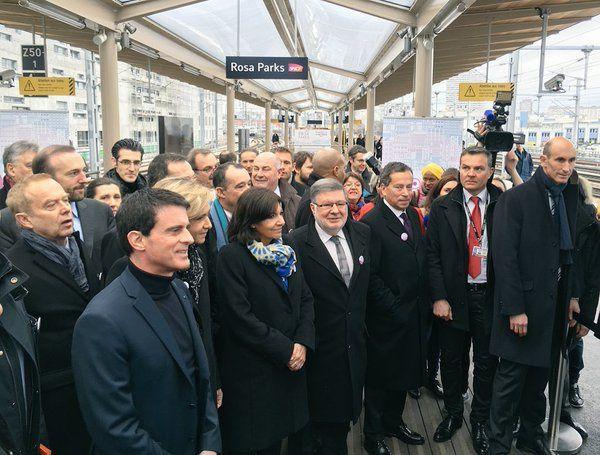 Gare Rosa Parks : inauguration le 6 février 2016 par le Premier Ministre.