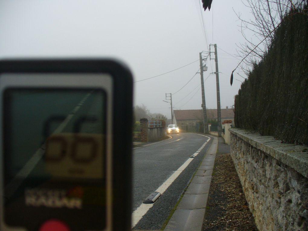 Vendredi 18 décembre - 66 km/h 58 55 60 63... au lieu de 50.