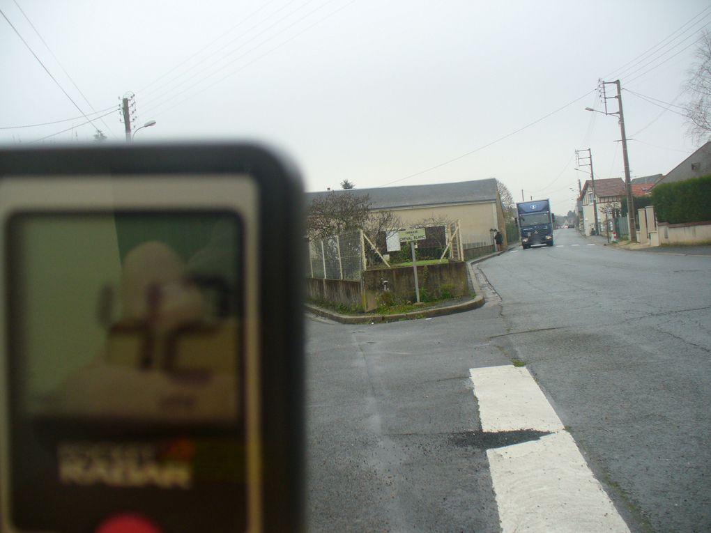 63 km/h - 47 km/h - 56 km/h - 42 km/h - 55 km/h dans une voie publique limitée à 50