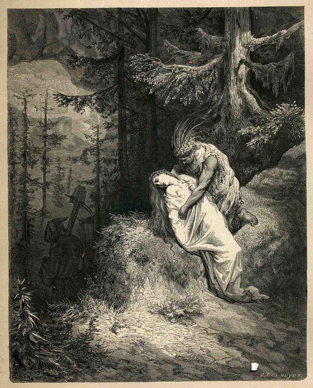 gravures extraites d' ATALA et une de Coleridge