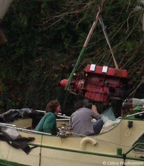 La sortie du moteur au chantier ONS de Nort sur Erdre