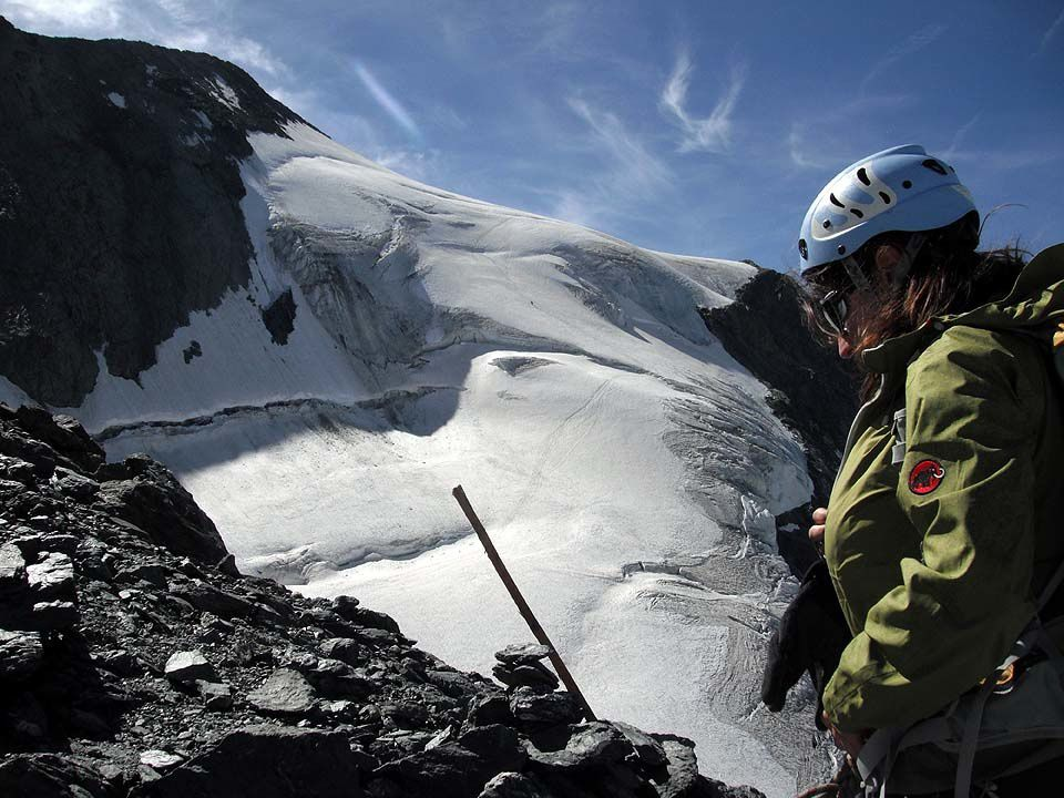 """Mont-Jovet - Arête du Franchet - Mont-Pourri - Mont-Chétif - Lac de Place Moulin - Refuge Aosta - Dent Blanche - Dent d'Hérens - Voie """"Oriana"""" - Traversée Aiguille d'Entrèves - Col du Géant"""