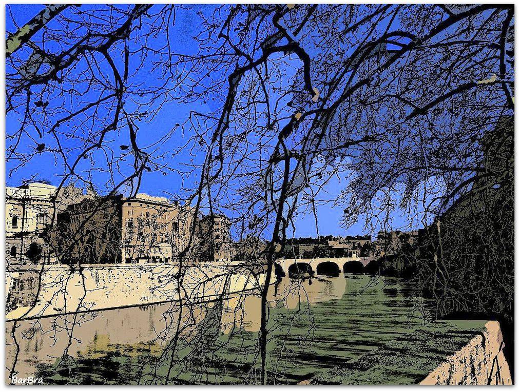...a destra nello sfondo Ponte Cavour