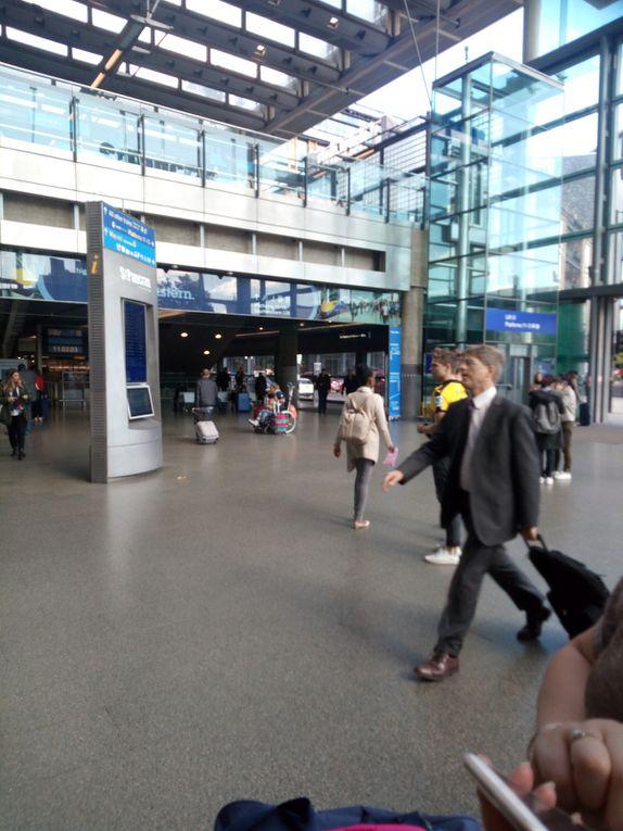 Retour par l'Eurostar & gare de St Pancras à Londres