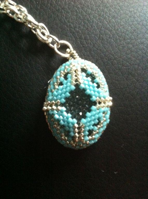 collier et bracelet azur