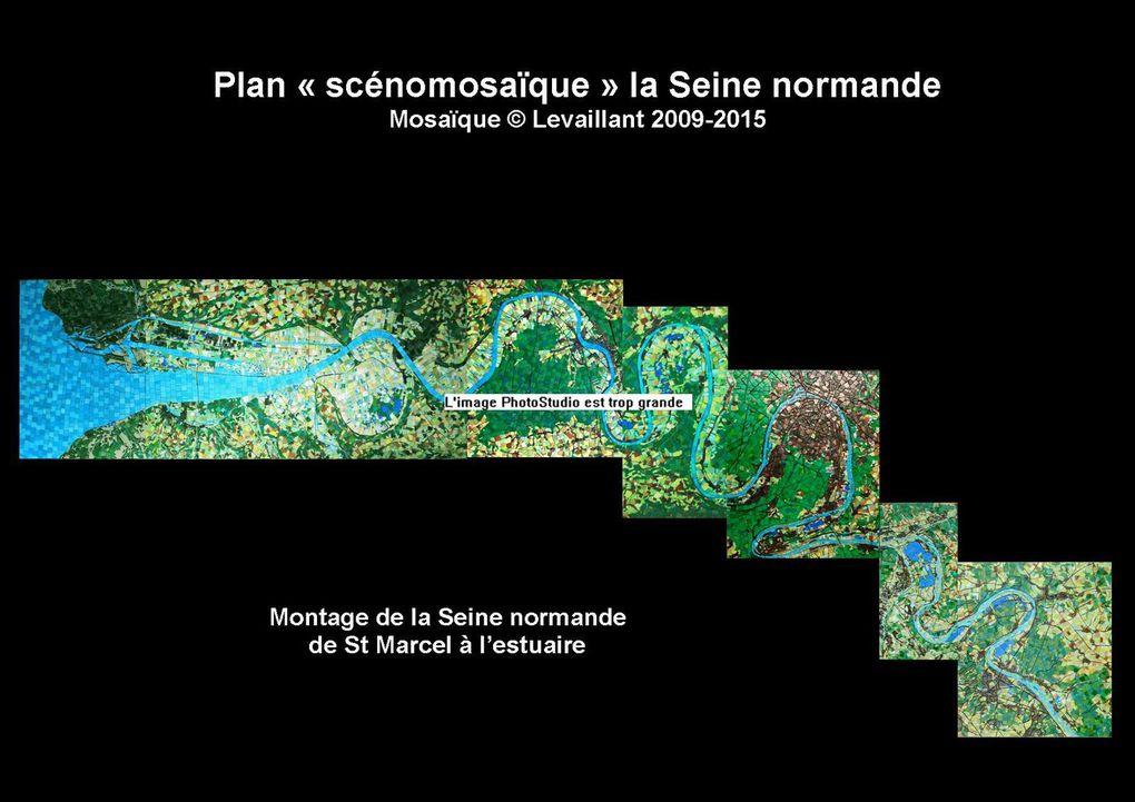 La Seine normande: vues d'ensemble  et fragments