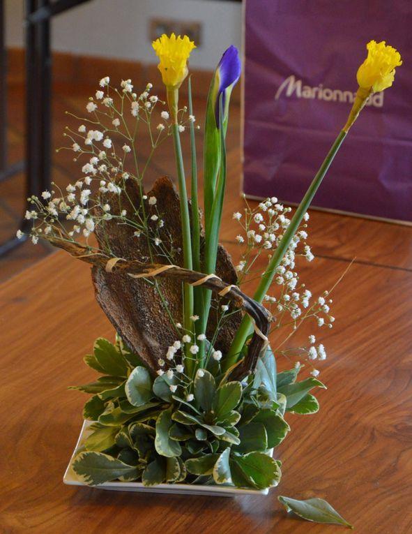 Compositions - réalisations florales et bois flotté - décoration florale le 7 mars 2015 - Office de Tourisme Caux Vallée de Seine