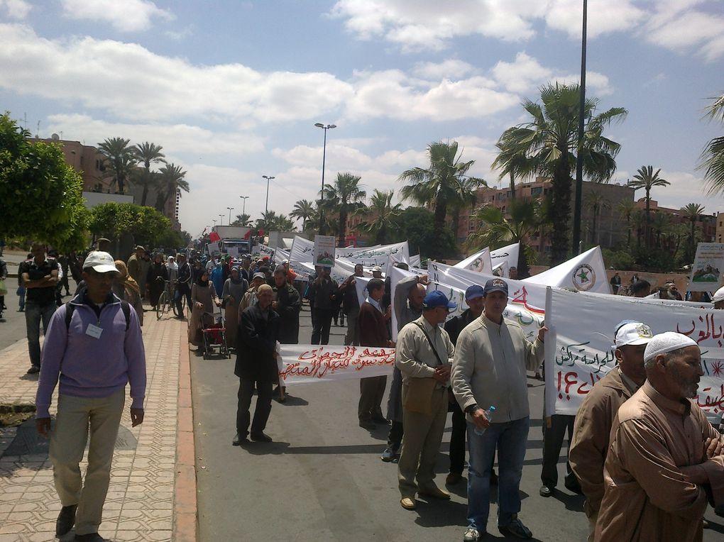 جانب من احتفالات الاتحاد الوطني للشغل بالمغرب بفاتح ماي 2013 - مراكش