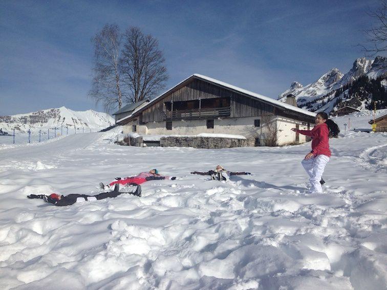 Ski de fond à la Clusaz sous le soleil ...