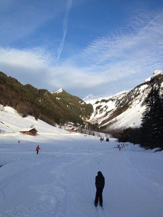 Première journée de ski de fond