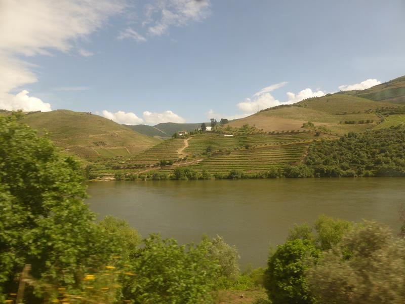 En train le long du Douro...