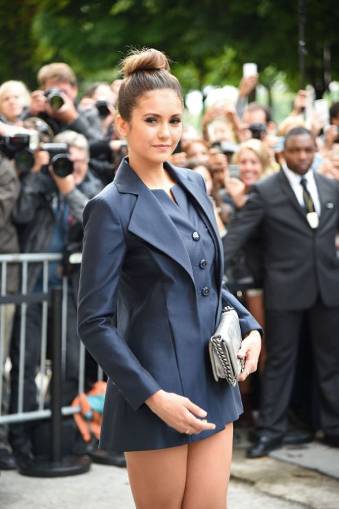 Nina Dobrev : Fashion Week de Paris