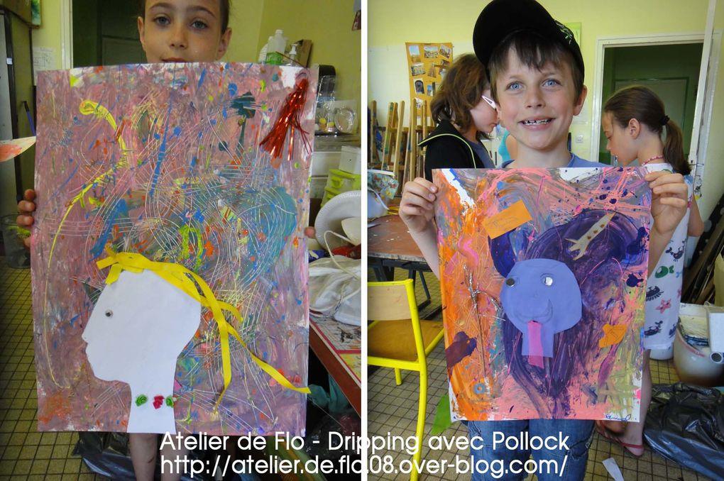 2ème atelier : Collage et bravo les artistes !