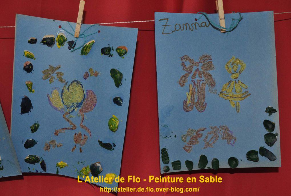"""Les peintures de """"sablage"""" réalisées par les jeunes artistes !"""