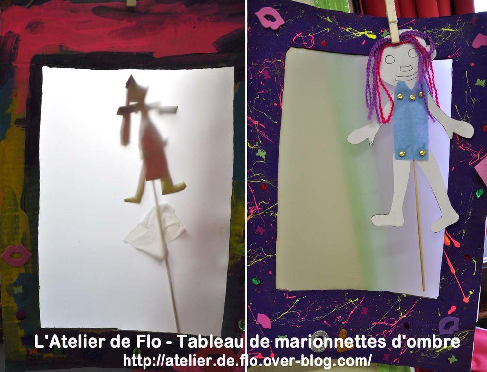 Les Tableaux-Marionnette d'ombre de l'Atelier de Flo à l'école de Donchery