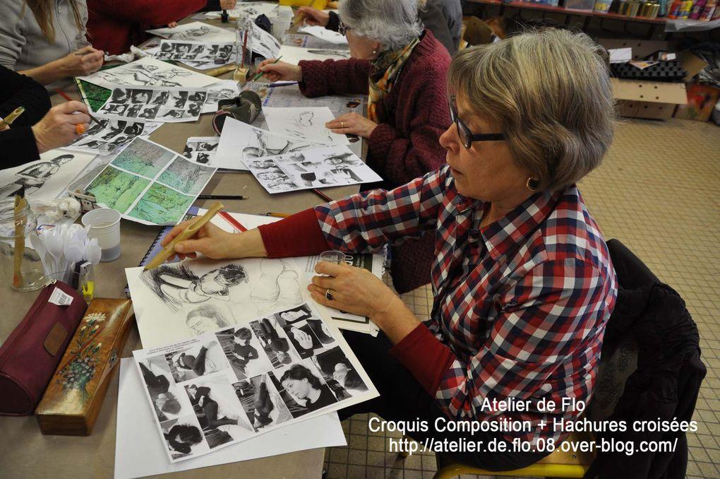 Atelier croquis :Hachures croisées et composition