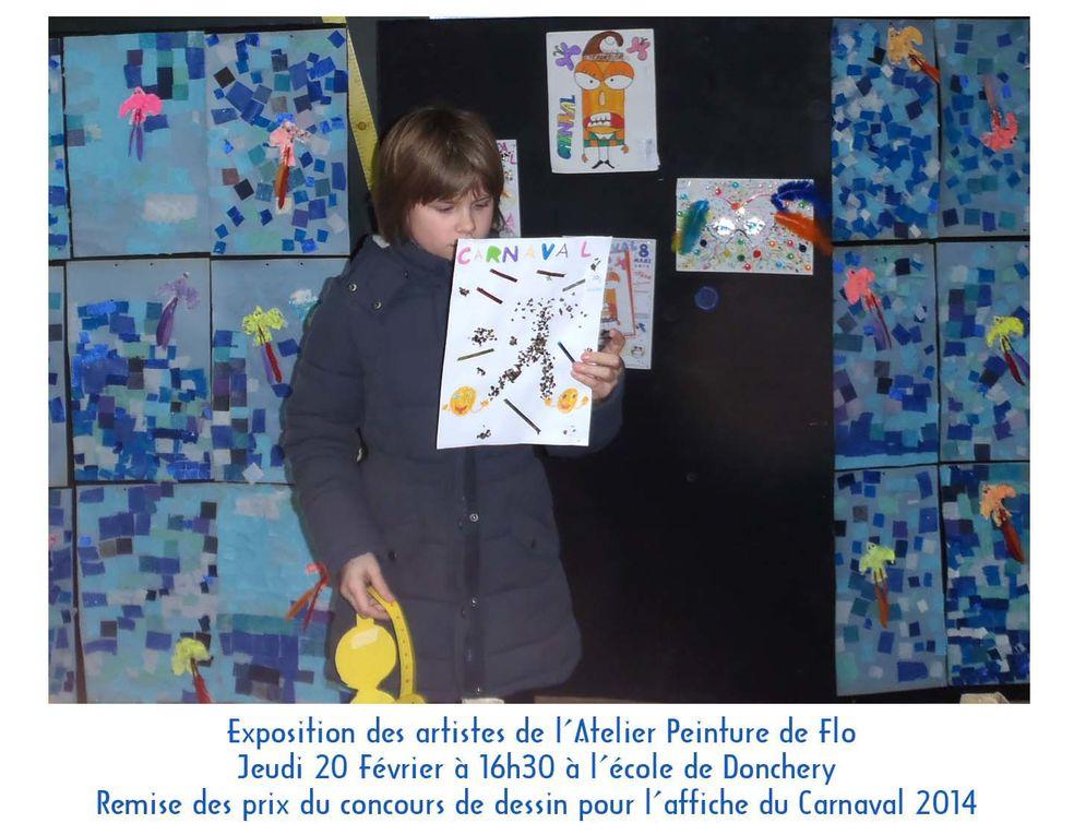Quelques uns des 50 jeunes dessinateurs du concours de dessin de l'affiche du Carnaval de Donchery 2014