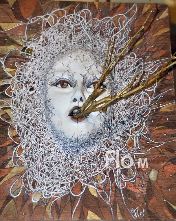 """L'élaboration de mon tableau-sculpture : Croissance (dans la série des """"Germinations"""")"""