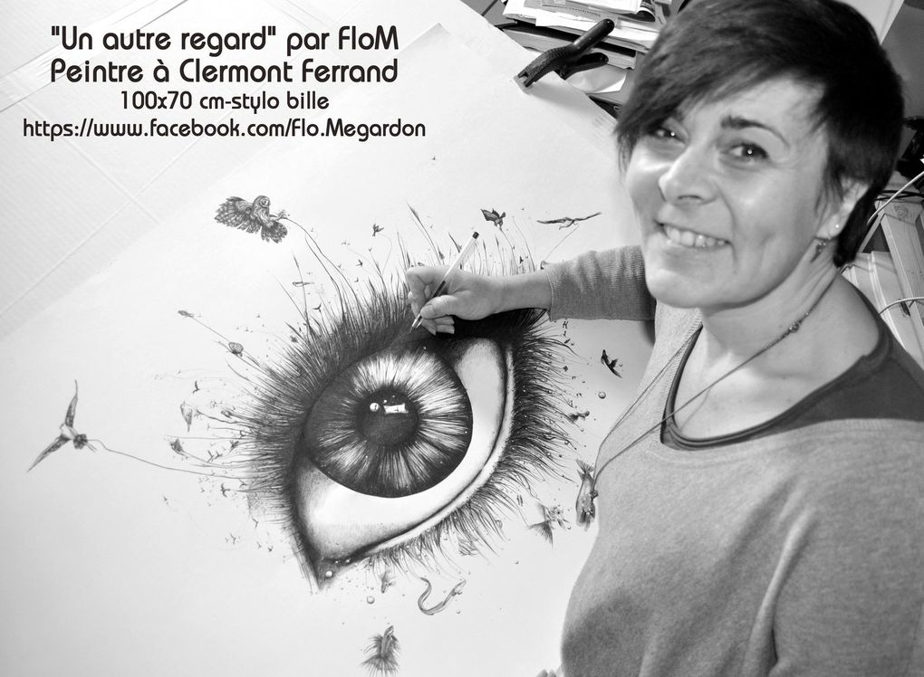 Peintures - Dessins - Stylo bille + techniques divers -  Artiste FloM (Megardon)   https://www.facebook.com/Flo.Megardon/