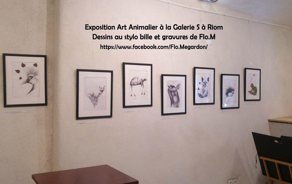 Exposition à la Galerie S de Riom - 6 rue de Soubrany - OUVERT du mercredi au samedi de 15h à 19h