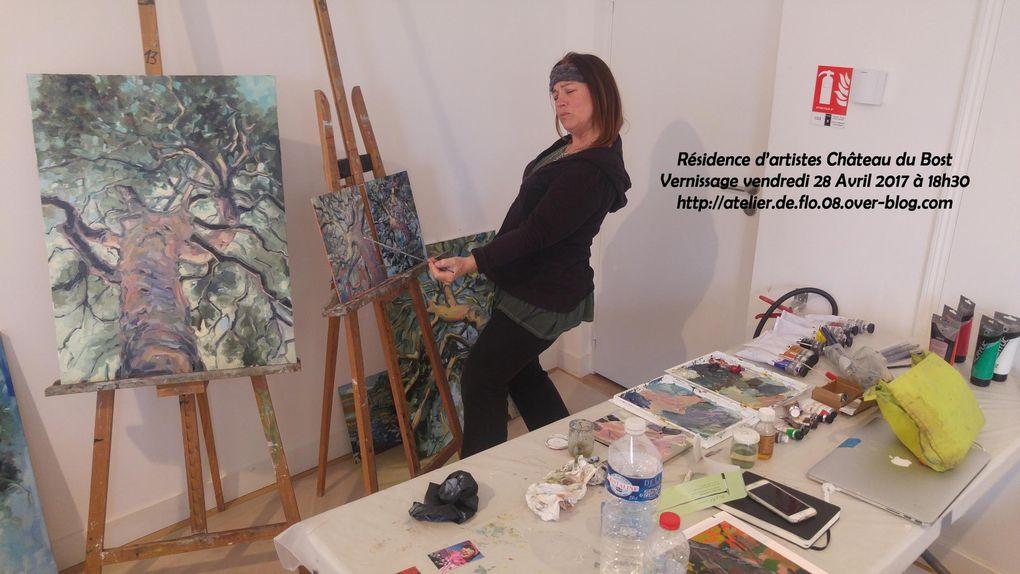 Les artistes de la résidence Boz'Art en Baz'Art en pleine création - Flo.M - flo.plasticienne@gmail.com