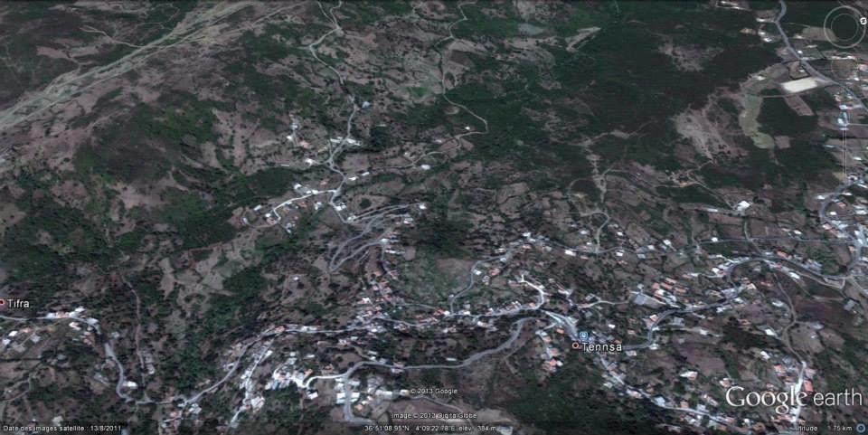 ALBUM de cartes géographiques de Tifra Tigzirt sur mer