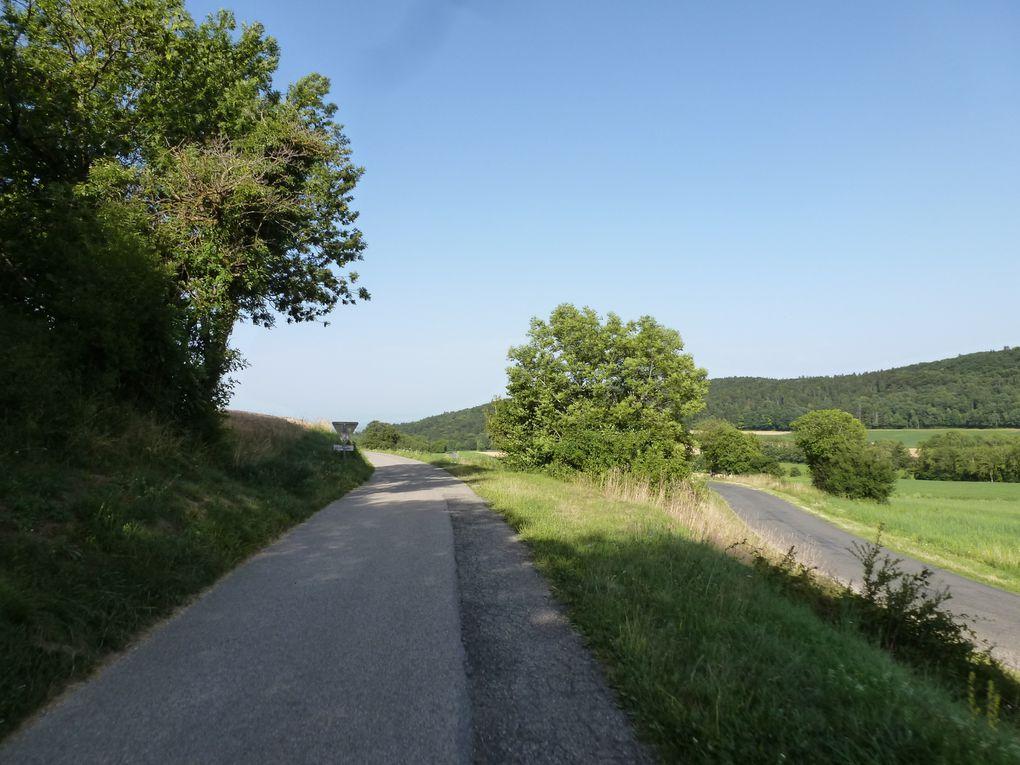 A quelques bornes de la Suisse... mais je ne vais pas traverser la frontière avant encore 1h30 de pédalage