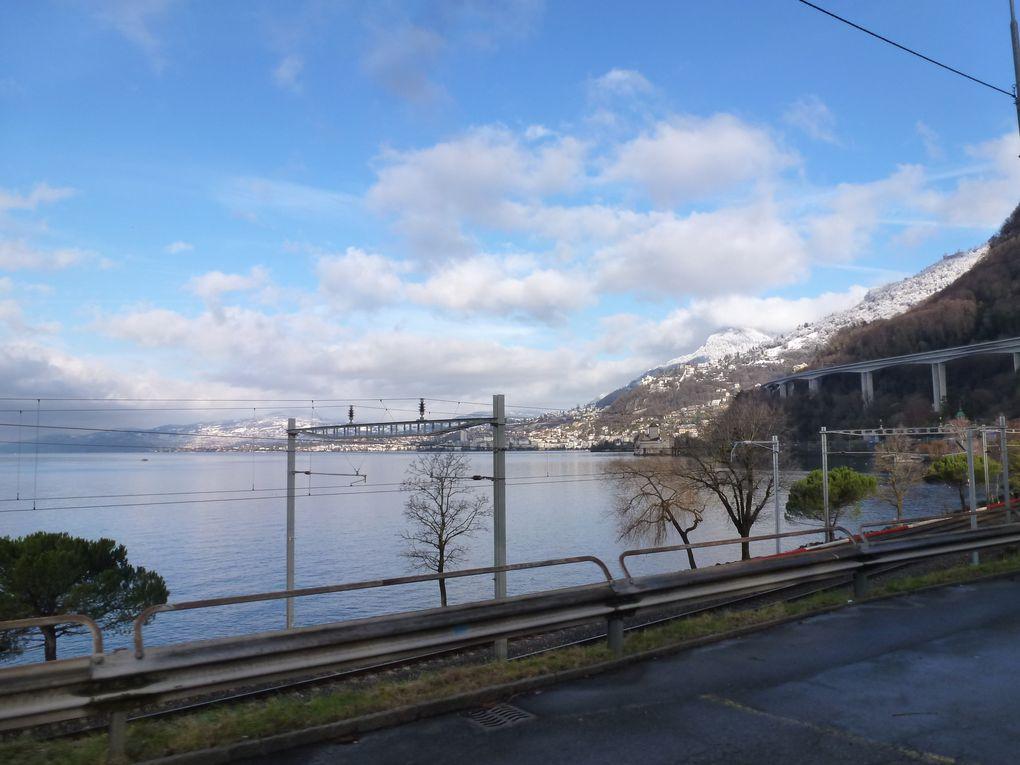 Montreux&#x3B; soleil et neige sur les montagnes alentours... une demi-heure magique !