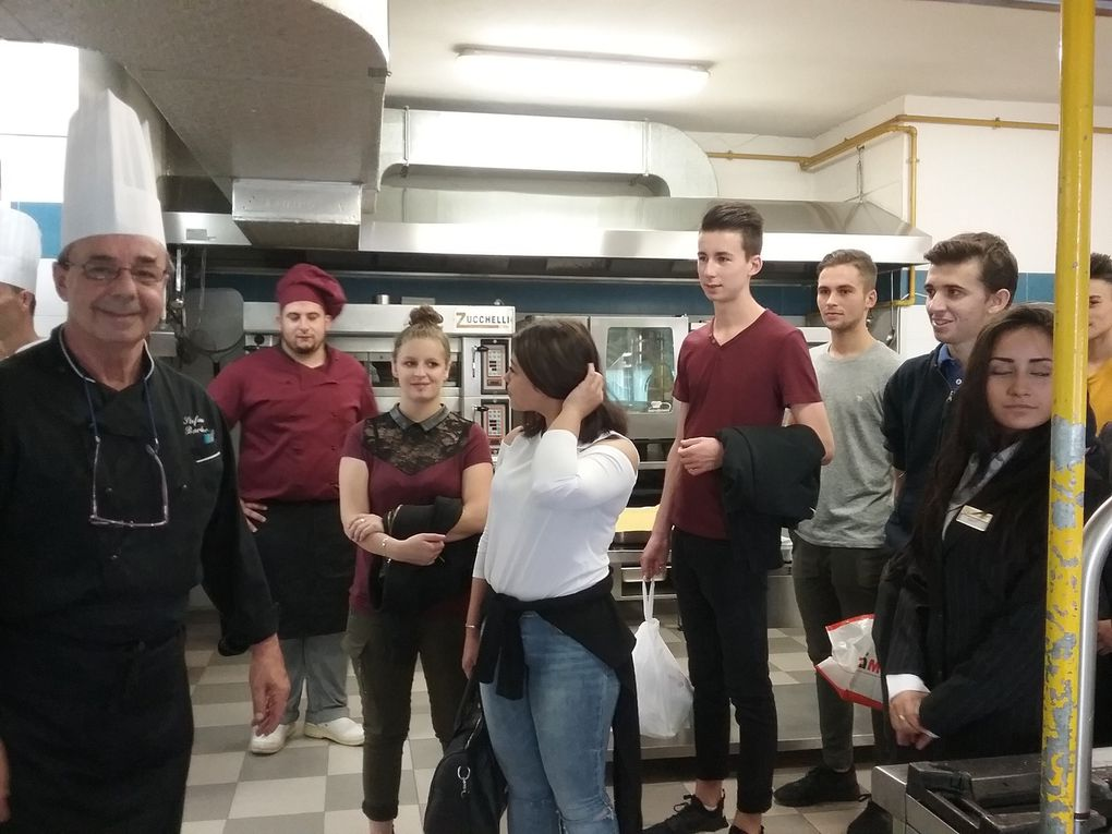 Photos du debut du sejour des apprentis en Italie