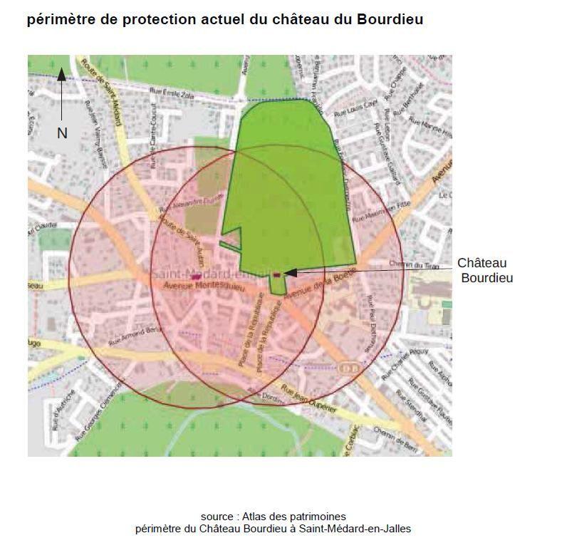 Périmètre de protection du site inscrit antérieur et nouveau et plan du projet remis par La Fabrique métropolitaine aux futurs expropriés...