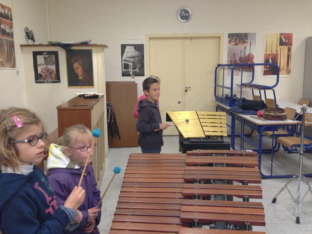 Découverte des instruments à l'école de musique