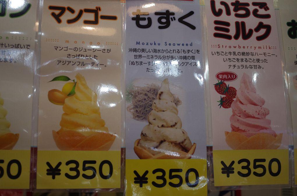 j'ai goûté à la glace au seamachin comestible mais pas de goût marquant (diaporama)
