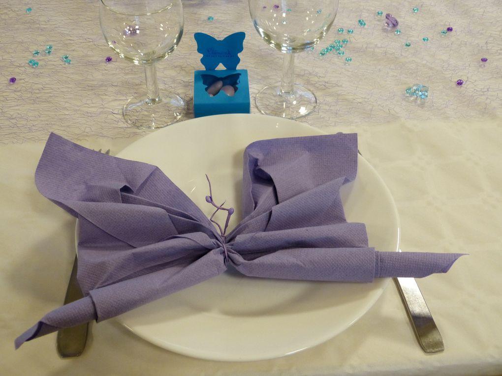 Au gré du vent,des papillons et des cerfs-volants: décoration des tables