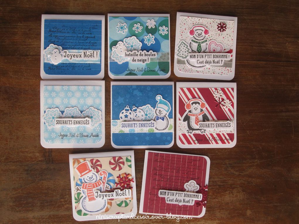 Cartes, boîtes de Noël!!!