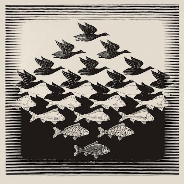Escher al Chiosco del Bramante e le Tartellette di pere, Stilton e semi di papavero.