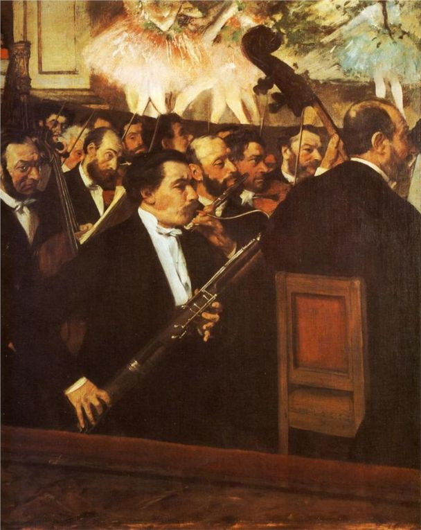 Edgar Degas:  Musicians in the Orchestra, 1872&#x3B; The Ballet Scene from Meyerbeer's Opera Robert Le Diable, 1876&#x3B; Musicians in the Orchestra, 1870&#x3B; Manet: Musicisti dell'orchestra 1878-1879 &#x3B; Manet: Orchestra of the Opera, 1869&#x3B; J. Singer Sargent, Rehearsal of the Pas de Loup: Orchestra, 1878 &#x3B; G. Boldini : Orchestra, 1908/10&#x3B;  A teatro&#x3B; da www.wikiart.org e www.musee-orsay.fr