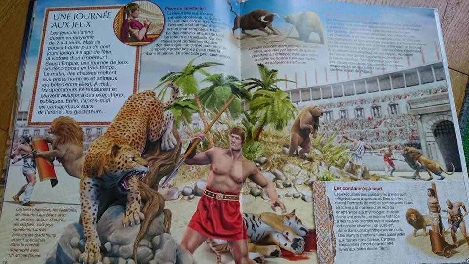 Dans ma Bibliothèque #20 : La Grande Imagerie des Gladiateurs et Jeux du cirque