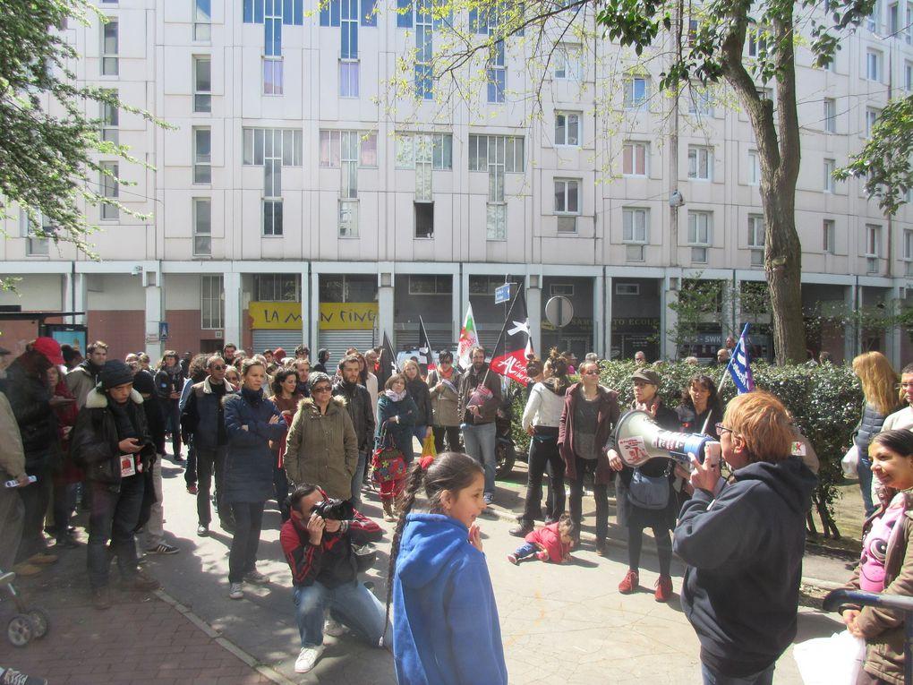 [Photos] Succès du 1er mai des luttes à St-Denis !