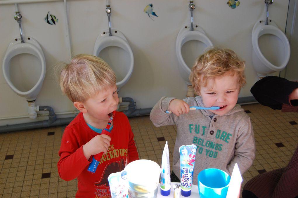 Diaporama du brossage des dents.