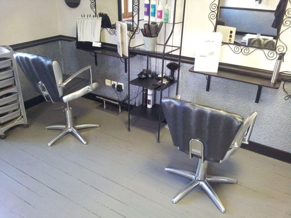 renovation fauteuils salon coiffure arabesque la decoration sur mesure thiers puy de dome 63. Black Bedroom Furniture Sets. Home Design Ideas