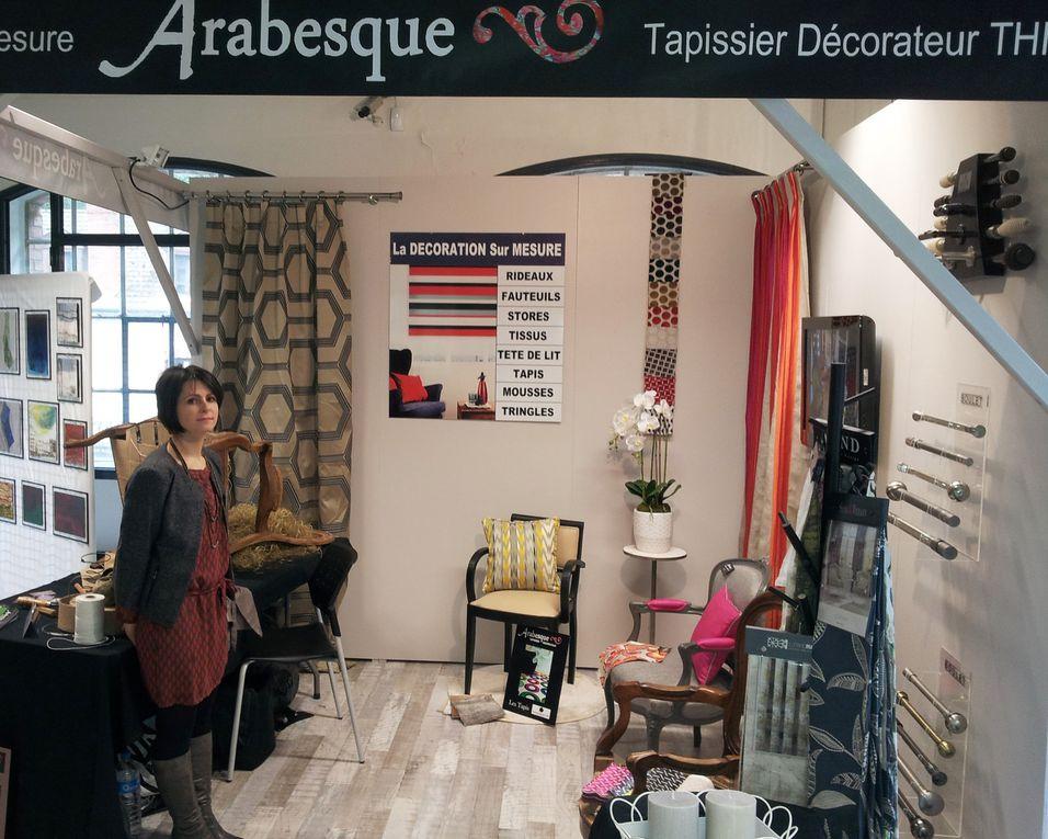 Arabesque durant les Journées Européennes des Métiers d'Art à THIERS à l'usine du MAY ARABESQUE La decoration sur mesure THIERS Puy de Dome 63 TAPISSIER DECORATEUR fauteuil rideaux stores tissus