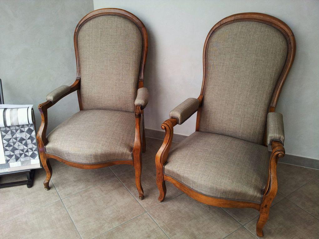 refection fauteuil voltaire ARABESQUE La decoration sur mesure THIERS Puy de Dome 63 TAPISSIER DECORATEUR fauteuil rideaux stores tissus